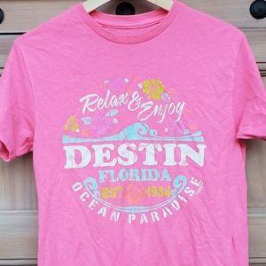 Destin FL Souvenir shirt pink S